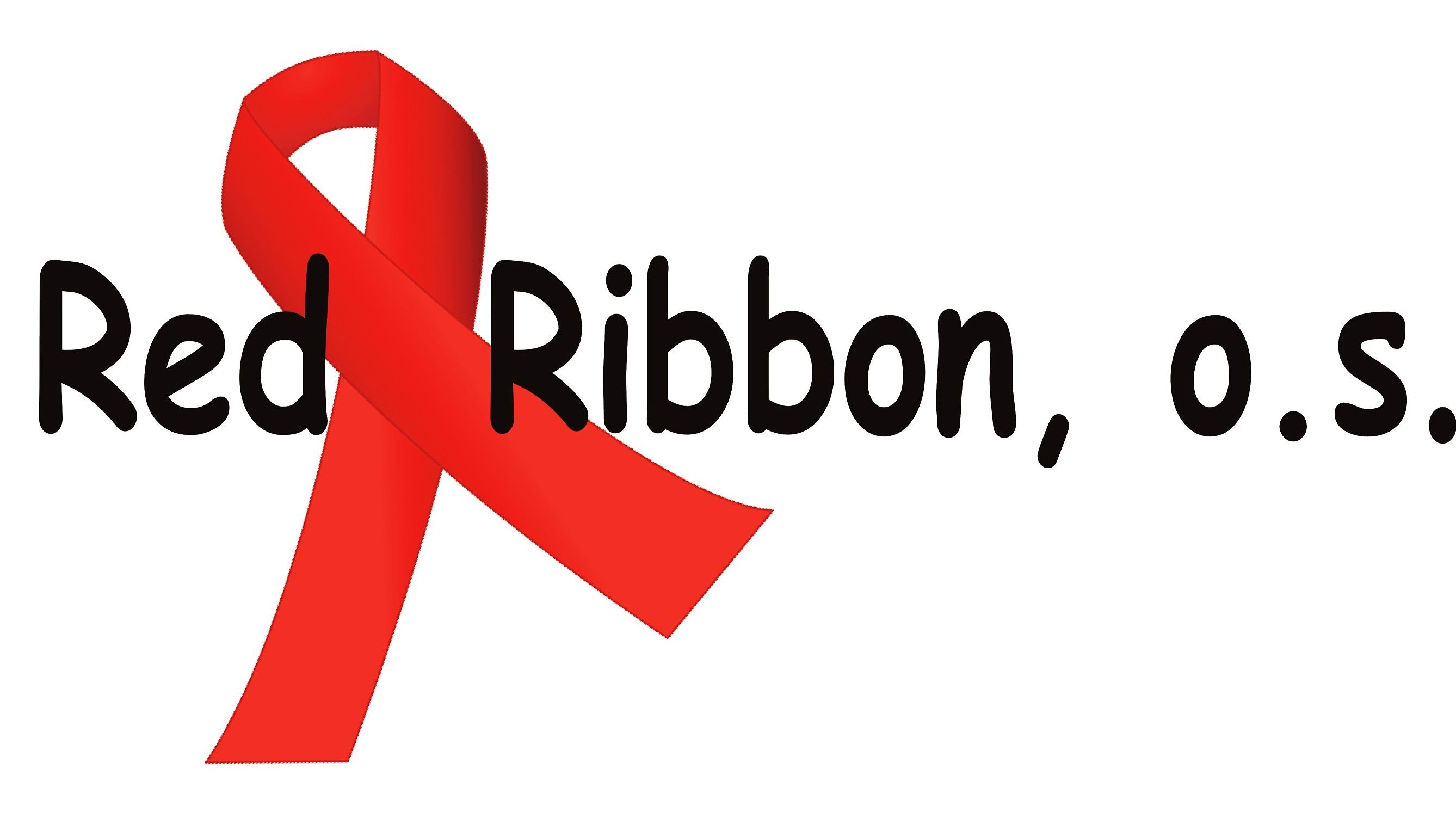 Red ribbon o.s.